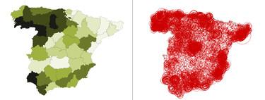 "700.000 ""Pérez"" y cinco ""Catahumbert"": dos mapas para descubrir cómo de raro es tu apellido"