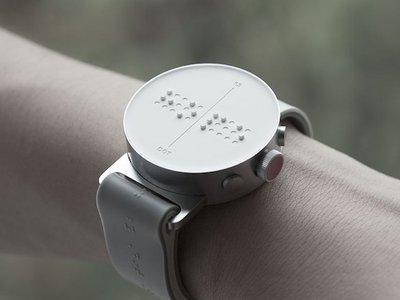 Dot es el primer smartwatch para ciegos: representando braille en la esfera del reloj