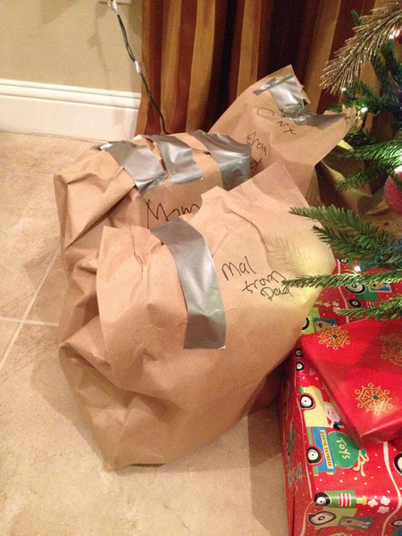 Gift Wrapping Fails Paper Bags And Duct Tape