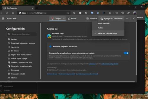"""Edge se actualiza y ya permite agregar capturas de pantalla a las """"Colecciones"""""""