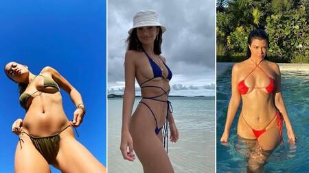 Con escote underboob, así se llevan los bikinis este verano