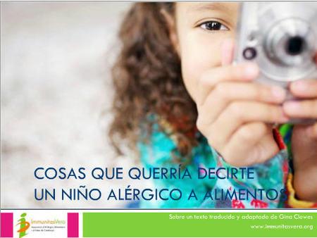 ¿Sabemos cómo se sienten los niños alérgicos a alimentos?
