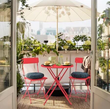 Mesa pequeña de terraza