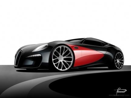 Bugatti Type 12-2 Streamliner Concept por Racer X Design