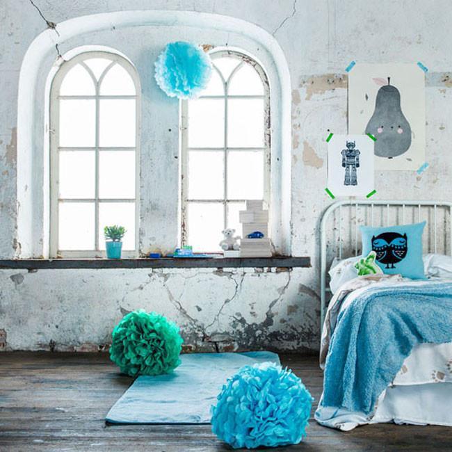 Azul y gris en un entorno industrial con toques vintage - Decoracion interiores vintage ...
