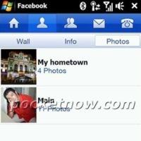 Aplicación para Facebook en Windows Mobile 6.5