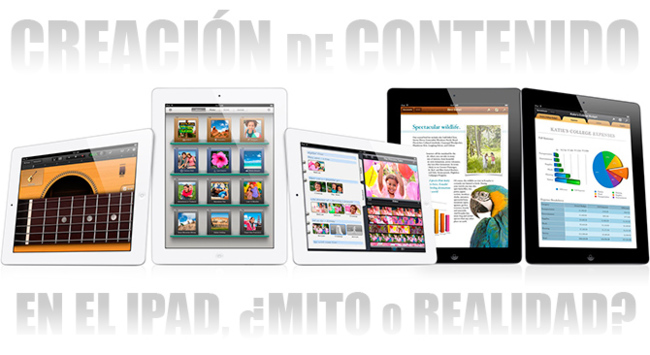 Creación de contenido en el iPad