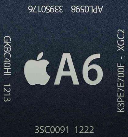 Apple A6 cuenta con un procesador de doble núcleo y una GPU de triple núcleo