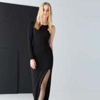 Vestido negro con una sola manga