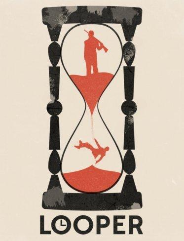 Un póster de Looper diseñado por un fan