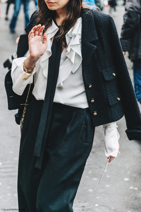 Pfw Paris Fashion Week Fall 2016 Street Style Collage Vintage Stella Mccartney Amanda Weiner Chanel