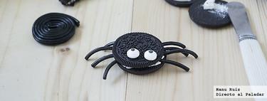 Arañas de Oreo. Receta de Halloween
