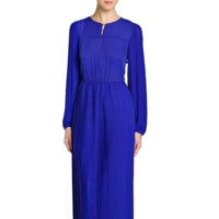 vestido azul klein mango