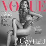 Y ahí tenemos a Gigi Hadid luciendo palmito en la portada de Vogue París
