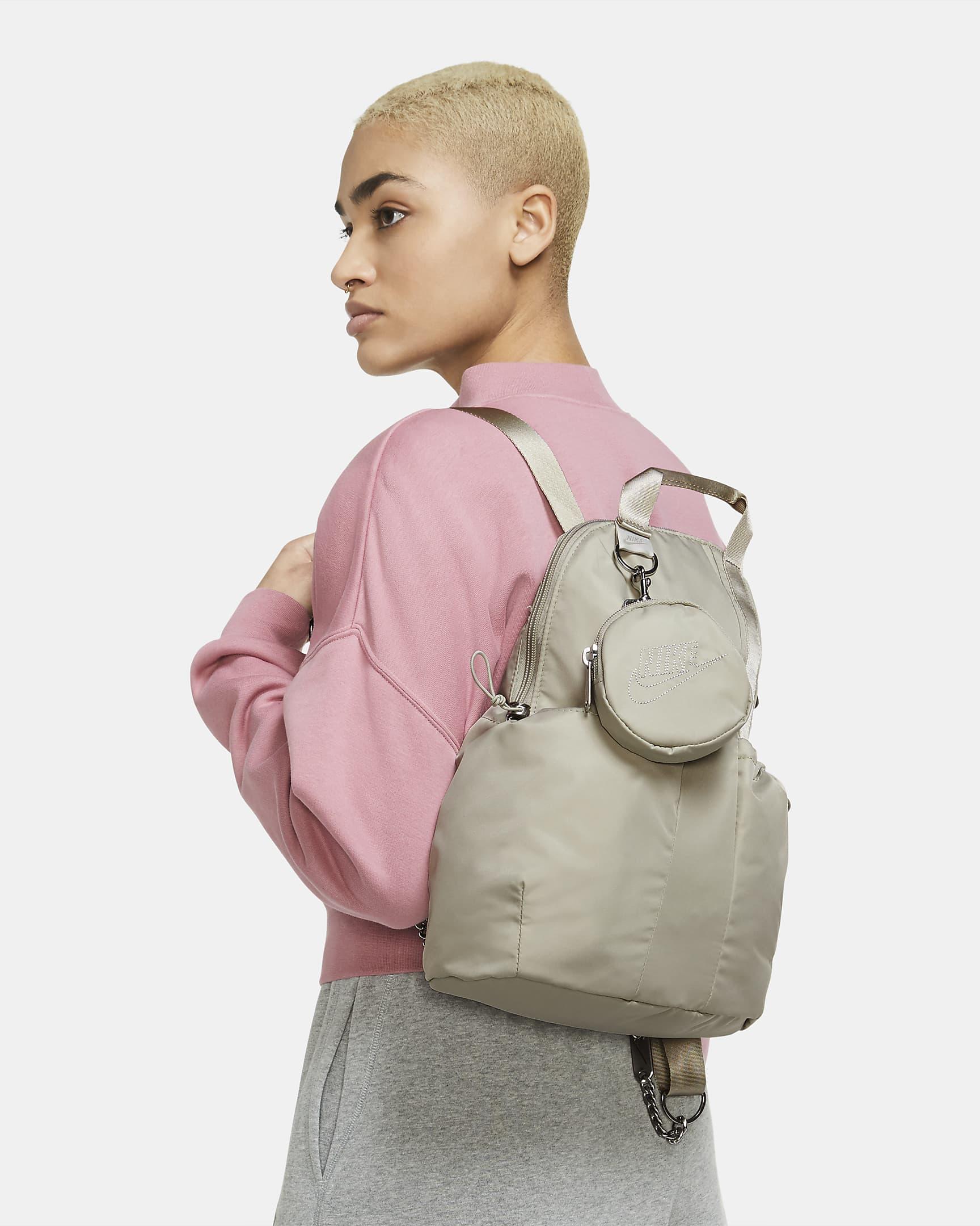 Mini mochila satinada con monedero Futura Luxe