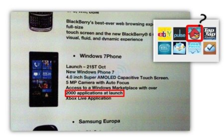Windows Phone 7 contaría con 2000 aplicaciones para su lanzamiento