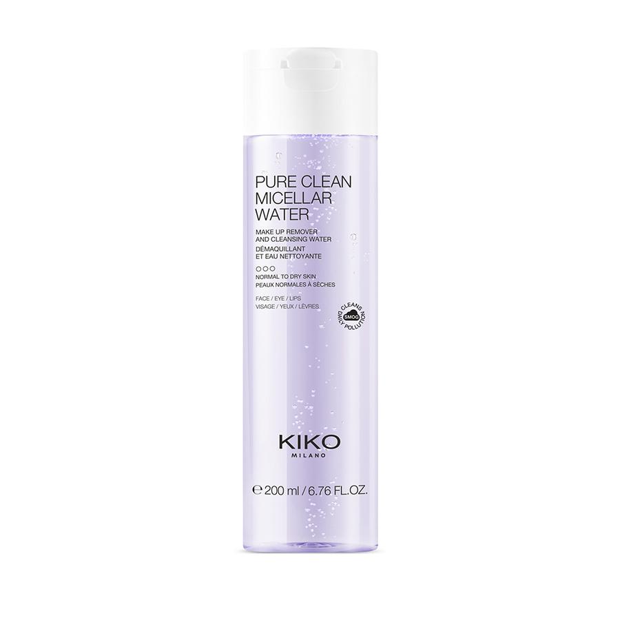 Pure Clean Micellar Water Normal To Dry 200ml Agua micelar desmaquillante para rostro, contorno de ojos y labios, para pieles de normales a secas