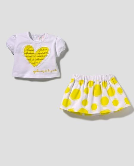 Conjunto Corazones Amarillo Bebés