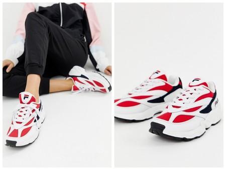 Zapatillas Fila Rojas