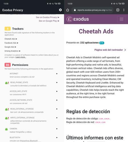 Exodus Privacy Privacidad Aplicaciones Android