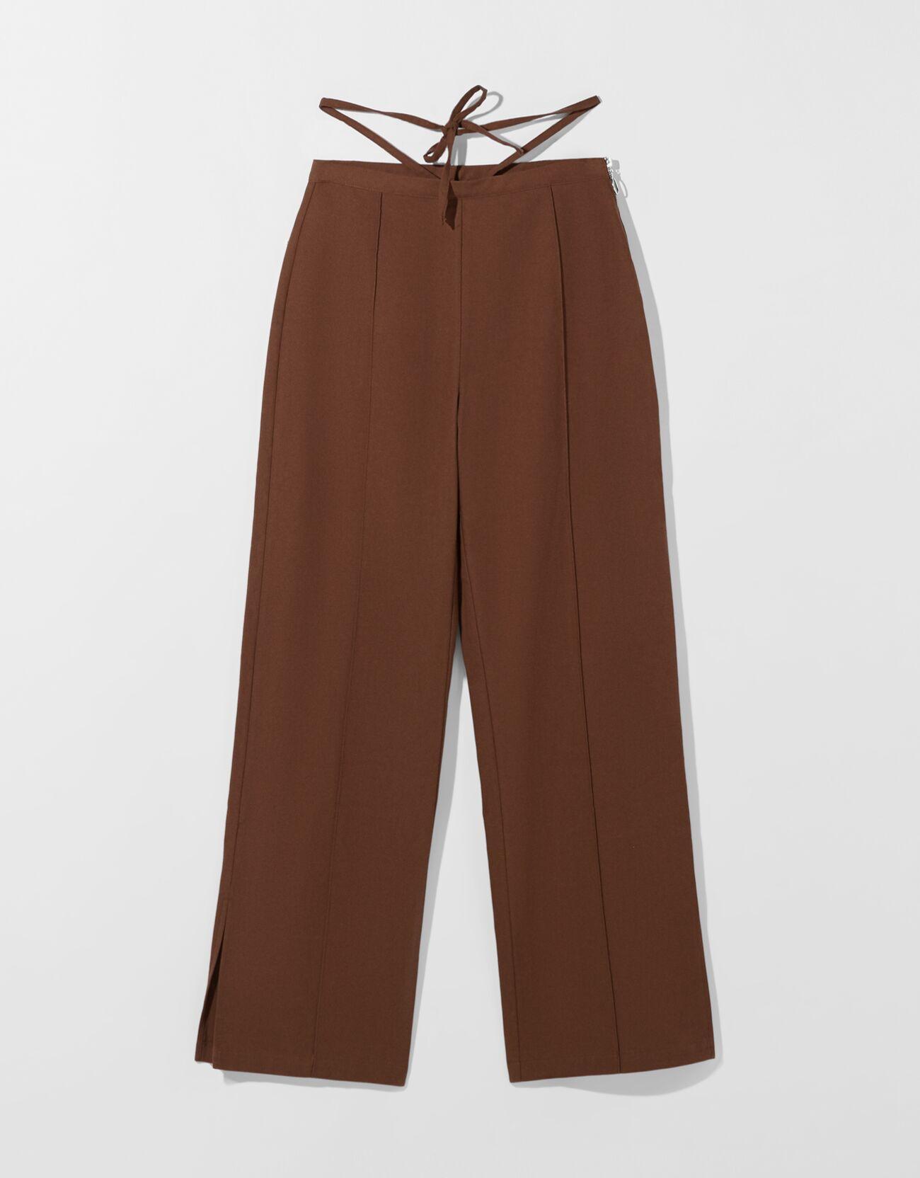 Pantalón algodón straight tiras.