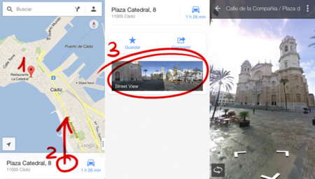 Street View en Google Maps para iPhone