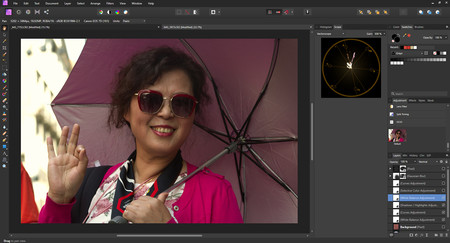 dando calidez en affinity photo