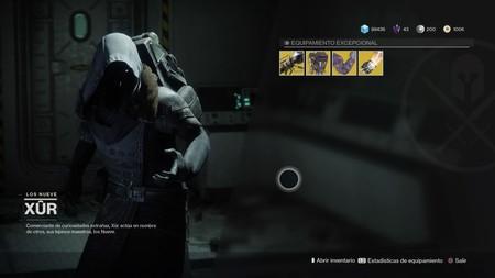 Destiny 2: ubicación de Xur y equipamiento (del 22 al 24 de septiembre)