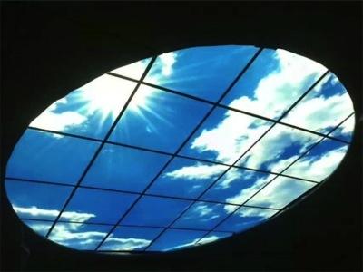 ¿Buena o mala idea? Un panel LED que imita el cielo azul... y algunas nubes