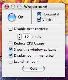 Wraparound: Cuando el cursor salga por un lado de la pantalla, aparecerá en el opuesto