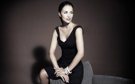 Negro vestido Paula Echevarria Blanco
