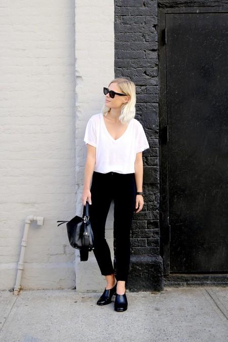 estilismos looks camiseta blanca basica