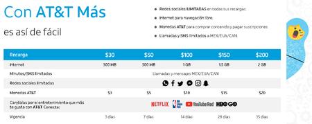 Att Redes Sociales Ilimitadas Mexico Recargas 30 Pesos