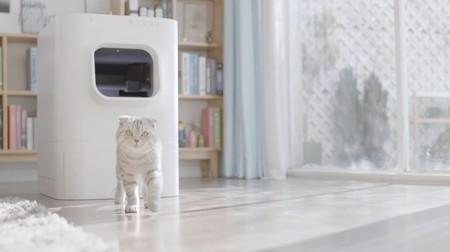 Nuestro producto favorito del MWC no es un móvil, es este arenero de gatos conectado: se limpia solo y se controla con una app