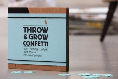 ¿Un confetti que piensa en verde? Sí, es posible con Throw & Grow Confetti