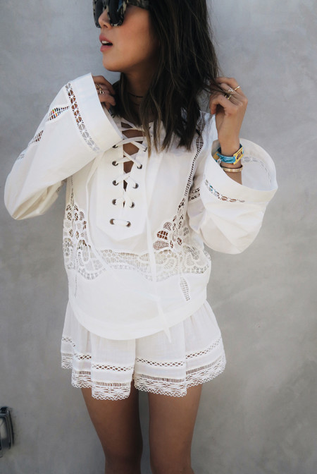 Aimee Song Of Style Rebecca Taylor Skirt Free People Top