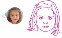 Vinilos decorativos con el retrato de tu hijo