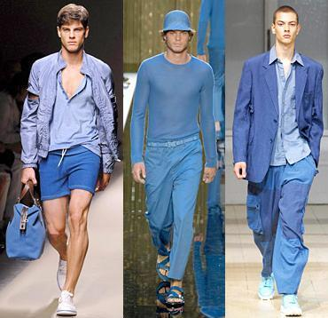 Verano azul en la moda masculina 2008