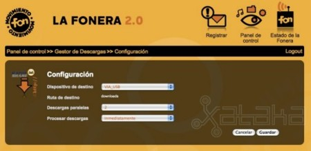 Fonera 2.0 con Megaupload y Rapidshare