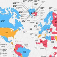 La guerra de precios global entre Apple Music y Spotify, en un mapa: esto cuestan en cada país