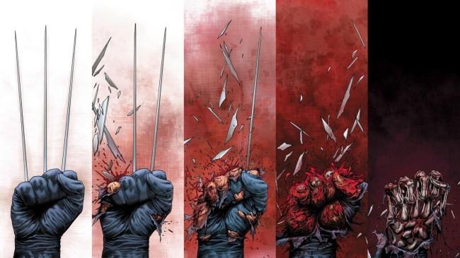 Ilustración sobre la muerte de Lobezno/Wolverine