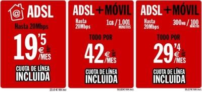 Pepephone estrena oferta convergente de ADSL y móvil por 42 euros