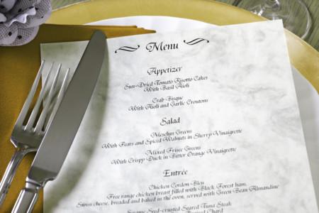 Consejos para disfrutar de un menú de boda sin atentar contra nuestra salud