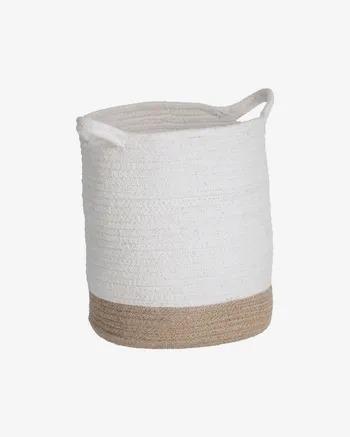 Cesta Telma algodón y yute grande