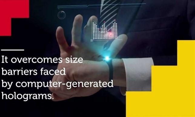 Se crea un holograma 1.000 veces más delgado que un cabello humano