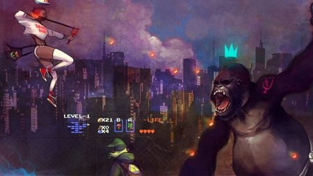"""Imagen de la semana: la épica batalla entre """"María"""" y Link contra Donkey Kong que usarás de fondo de escritorio"""