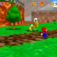 Super Mario 64: cómo conseguir la estrella Footrace with Koopa the Quick de Bob-omb Battlefield