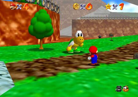 Super Mario 64: cómo conseguir la estrella Footrace with Koopa the Quick de Bob-omb Battlefield