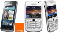 Precios Blackberry Bold 9780 y Samsung Wave 723 con Orange
