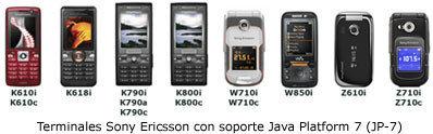 Dos nuevos Sony Ericsson con soporte Java Platform 7